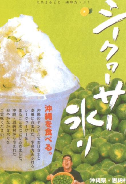 シークヮーサー氷り|フルーツカキ氷り|株式会社アオイ